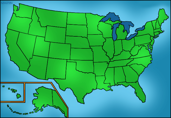 Green Map of the USA