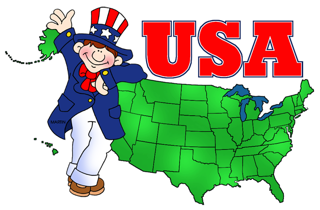 Uncle Sam and USA Map
