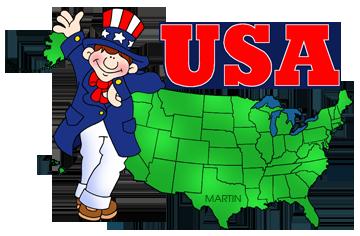 Free USA Maps Clip Art by Phillip Martin